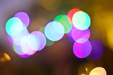 Bokeh lights. Beautiful Christmas background.