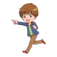 男の子/走る
