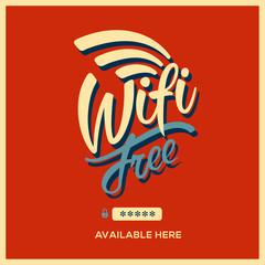 Free wifi symbol retro style, vector Eps10 image.