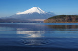 Mt. Fuji with water ripple