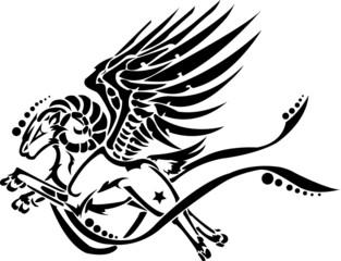 goat fly tribal art
