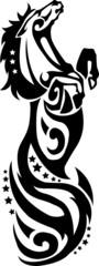 Vector head of horse tribal art