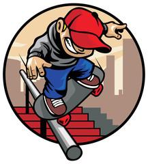 skater boy doing trick 2