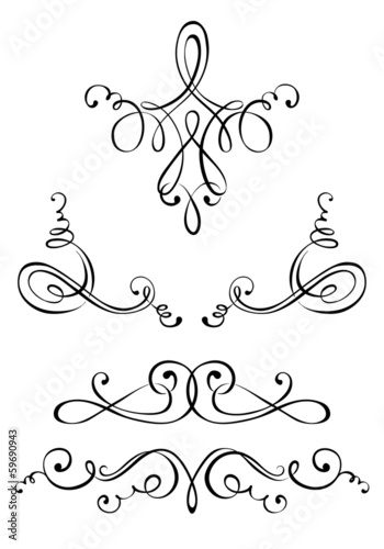 Set of ornaments for the label