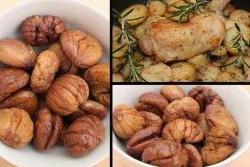Volaille cuisnée aux Châtaignes