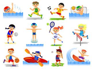 set of summer sport