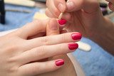 remove excess nail polish