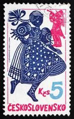 Postage stamp Czechoslovakia 1980 Wallachian Dance