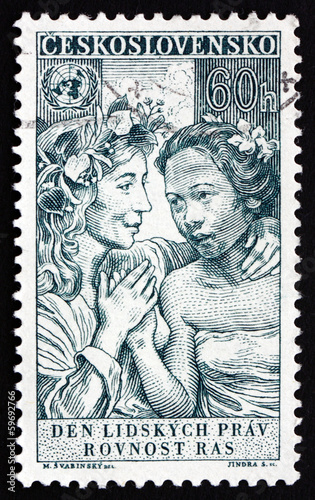Postage stamp Czechoslovakia 1959 Equality of All Races