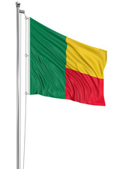 3D Flag of Benin