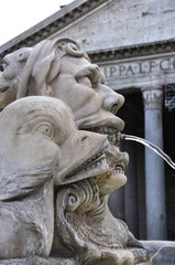 Fountain and Pantheon, Rome