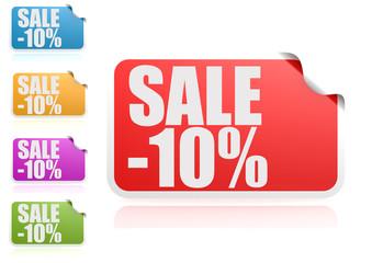 Sale 10% label set