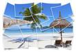 kaléidoscope de plage paradisiaque des Seychelles