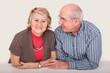 Spry elderly couple