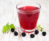 Summer blackberry  drink