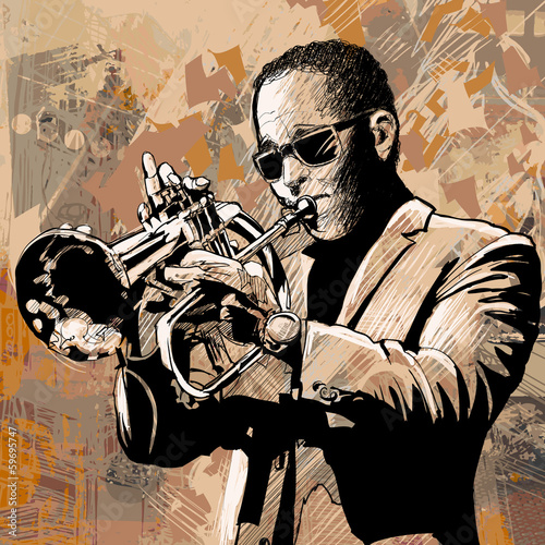 trumpet player - 59695747