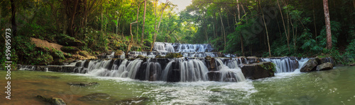 forest waterfall at National Park, Panorama - 59695973
