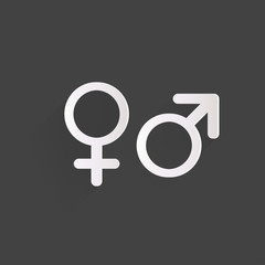 Male and female symbols,man and woman