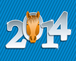 vector new year greeting background of a horse