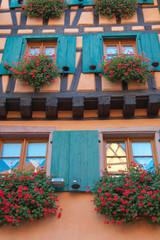 façade de maison alsacienne