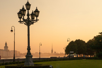 Sunrise in St. Petersburg
