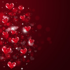 Abstract Valentine Red Background