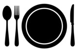Fork, knife, Spoon and plate - 59699563
