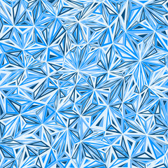 Abstract geometric ice background with triangular polygons