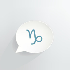 Capricorn Sign Speech Bubble