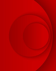 Red abstract circles template