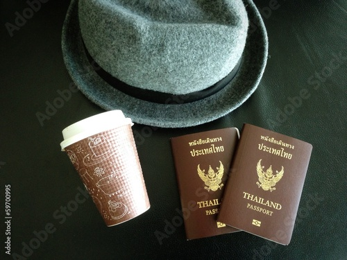 Hat Cup and Passport