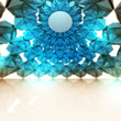 triangulated blue interior frame structure wallpaper study