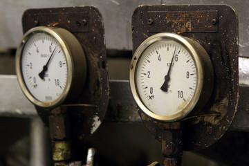 Pressure meter in engine room