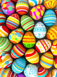 Happy Easter. Background with painted eggs