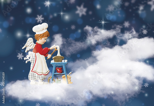 Angel cooking