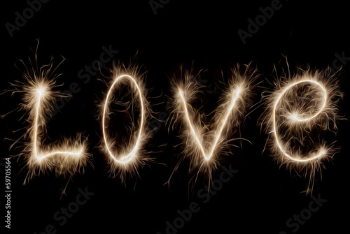 Inscription - Love of sparklers.