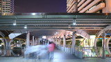 People walking to subway, time lapse in city
