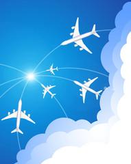 Der Flugzeugverkehr