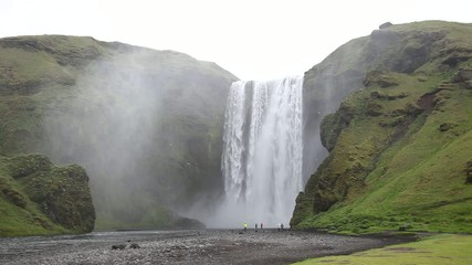 Skogafoss is a waterfall situated in the south of Iceland.