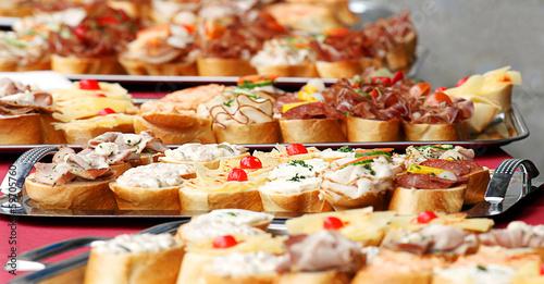 Deurstickers Assortiment Kalte Platte | Catering | Buffet