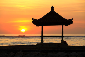 Pagoda at Sunrise, Sanur.