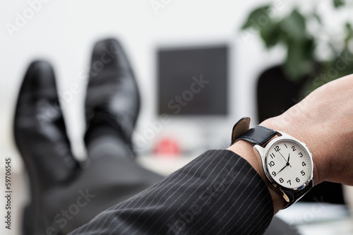 Businessman's watch closeup
