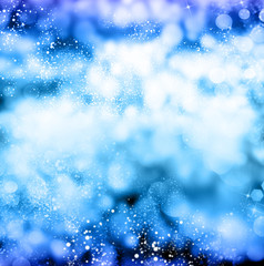 Merry Christmas.Blue abstract background