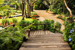 Landscaping in the garden. The path in the garden asian style