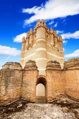 Coca Castle (Castillo de Coca) in Segovia, Spain