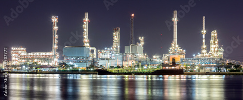 Oil refinery plant panorama