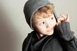 Fashionable Little Boy.Stylish Handsome Kid.Fashion Children