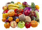 Mixed fruits and vegetables.