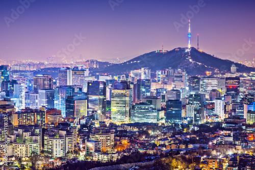 Poster Seoul Skyline