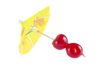 Cocktail cherry.